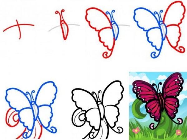 Рисунки цветными карандашами для срисовки легкие, красивые,