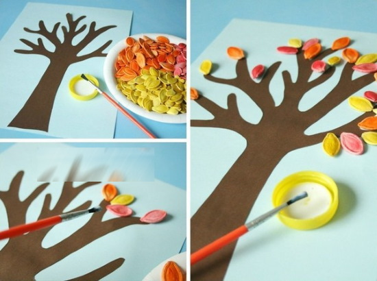 Поделка в садик «Осенняя фантазия» из природных материалов, овощей, каштанов, шишек