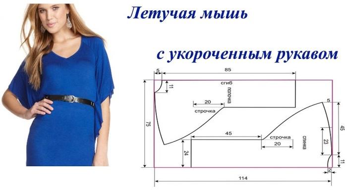 Выкройки рукавов для платья с цельнокроеным рукавом, длинным свободного покроя, реглан, летучая мышь, фонарик, спущенным. Размеры и схемы