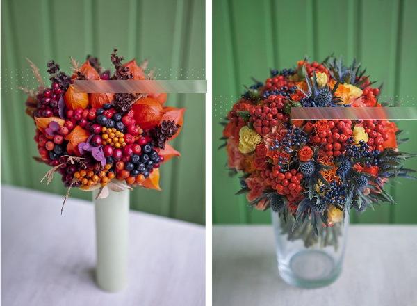 Красивый осенний букет. Фото, своими руками из фруктов, природного материала, как оформить