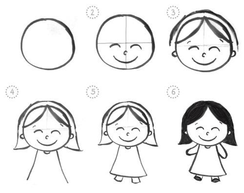 Мультяшные рисунки карандашом для срисовки людей, животных в разных стилях