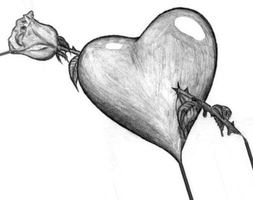 Грустные рисунки для срисовки лёгкие, красивые карандашом, чёрно-белые, аниме, про любовь