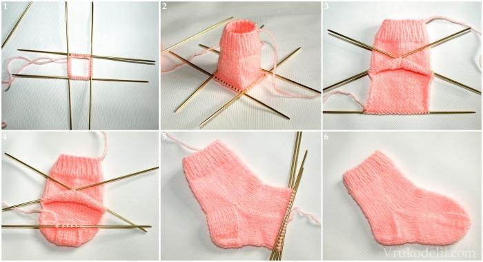 Как связать носочки для новорожденного крючком, спицами. Схемы с описанием, фото