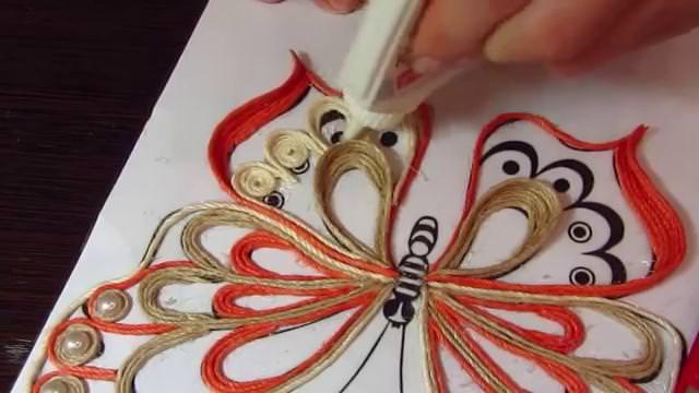 Джутовая филигрань. Рисунки для изделий, схемы узоров, трафареты, идеи, мастер классы, эскизы