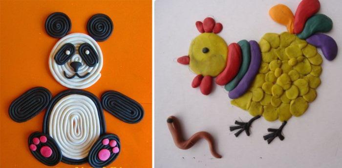 Пластилинография для детей 2-3-4-5-6-7-8 лет. Что это такое, шаблоны, трафареты на тему осень, зима, весна, лето, животные