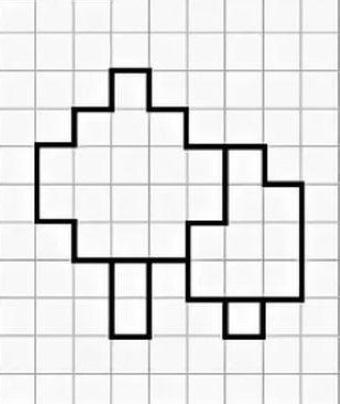 Рисунки по клеточкам большие, легкие, сложные, красивые в тетради А4