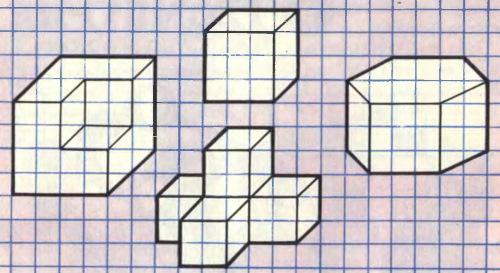 Рисунки по клеточкам средние в тетради, 3д пошагово для начинающих