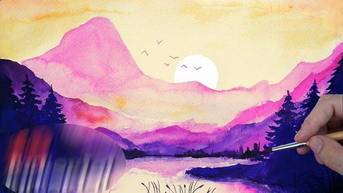 Рисунки природы для срисовки карандашом, акварелью, красками, гуашью