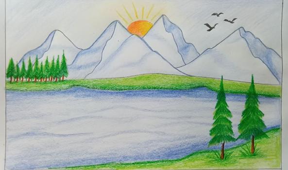 Рисунки для срисовки по этапам лёгкие, красивые, прикольные карандашом