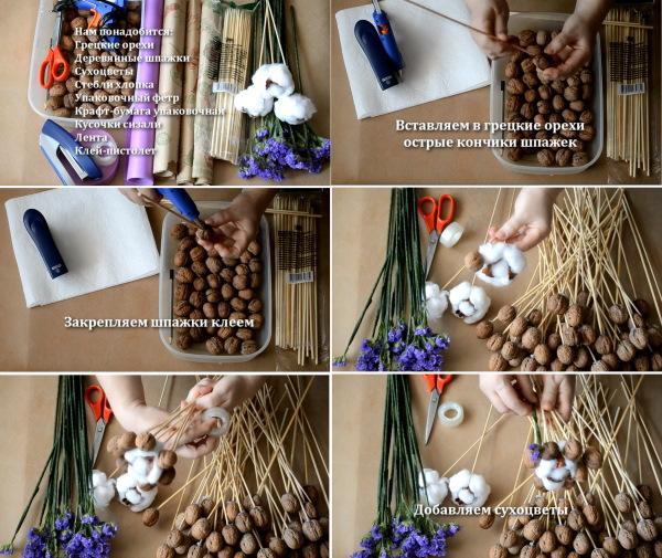 Съедобный букет для женщины. Как сделать своими руками