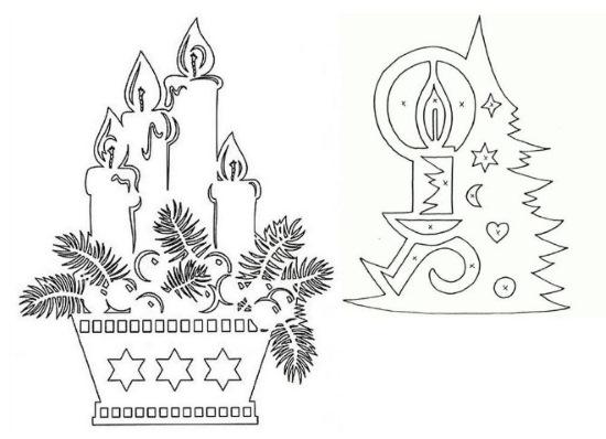 Вытынанки новогодние. Шаблоны на окна: мышки, шары, Ну погоди, совы, снежинки, Дед Мороз, герои мультфильмов