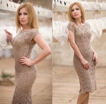 Платья крючком для женщин. Схемы и описание, модели