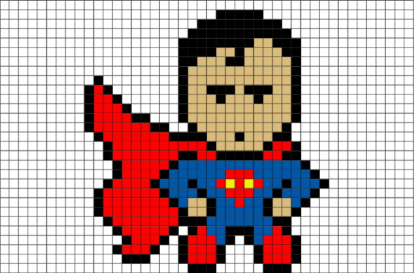 Рисунки по клеточкам супергерои, злодеи Марвел, ДС, Диснея легкие для начинающих