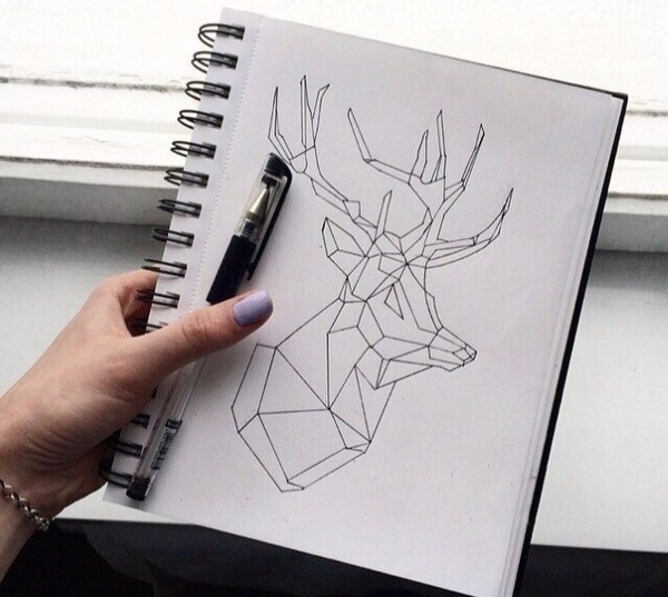 Рисунки в стиле минимализм для срисовки черной ручкой, карандашом, акварелью
