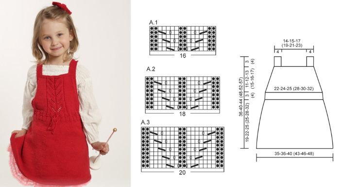 Вяжем детям спицами для девочек 3-4 лет. Инструкции, схемы с описанием