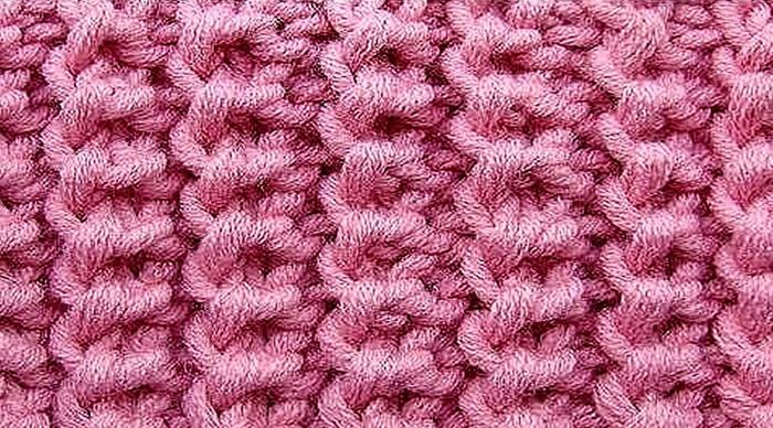 Американская резинка спицами. Схема вязания по кругу для носков, шарфа, шапки