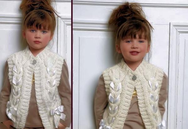 Безрукавка для девочки спицами 1-2-3-5 лет. Схемы и описание для начинающих, мастер-класс