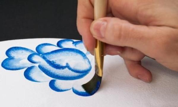 Гжель роспись для детей. Картинки, шаблоны, поэтапное рисование, история, узоры