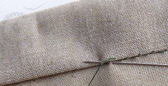 Красивые швы иголкой вручную для обработки края, маскировки дырки, красоты