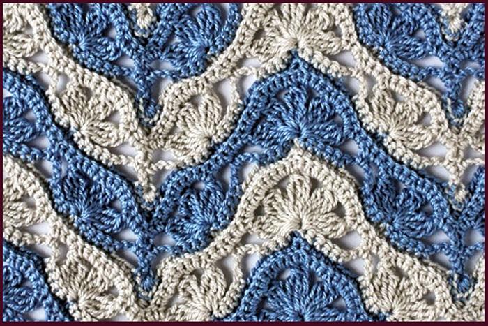 Красивые узоры крючком. Схема и описание вязания для кофты, шали, шапки, кардигана