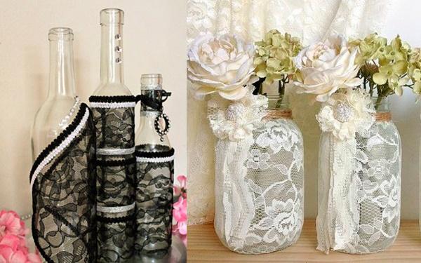 Поделки из стеклянных бутылок для сада, кухни, дачи своими руками. Фото