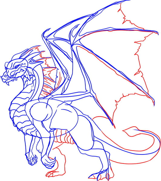 Рисунки драконов для срисовки легкие, красивые, прикольные поэтапно