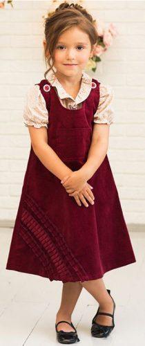 Сарафан из вельвета для девочки. Фото, выкройки, как сшить, фасоны