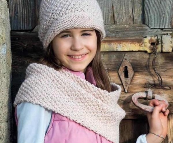 Снуд спицами для девочки 8-10 лет в один-два оборота. Схемы, размеры, описание