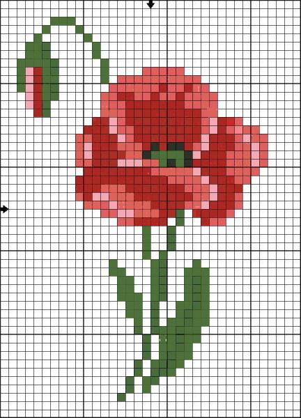 Вышивка крестом. Схемы для спальни, маленькие цветы, птички для начинающих