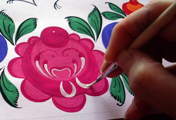 Городецкая роспись. Элементы росписи, трафареты, шаблоны, раскраска, рисунки
