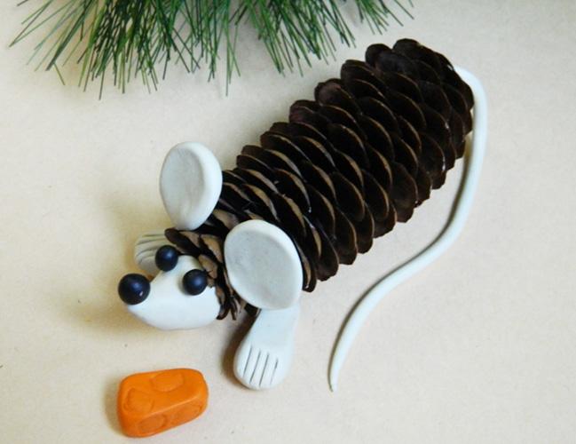 Мышка из пластилина для детей. Как слепить, сделать пошагово с фото, видео