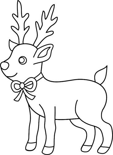 Рисунок оленя карандашом для детей: цветной, черно-белый: северный, новогодний, геометрический, лесной