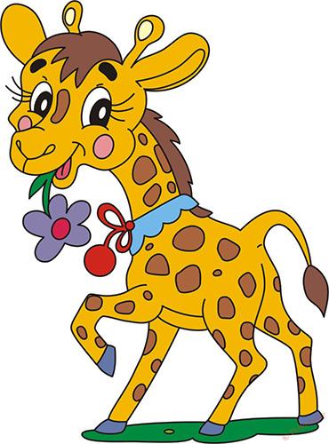 Жираф рисунок для детей карандашом, красивый для начинающих
