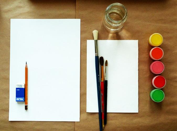 Идеи для рисунков гуашью легкие для начинающих, детей