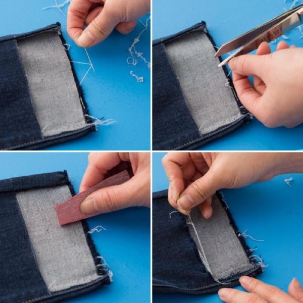 Как укоротить джинсы не обрезая низ без машинки, не подшивая, резинкой