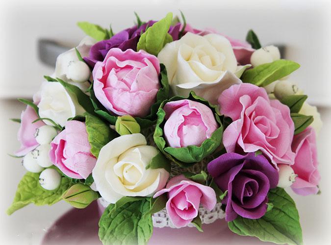 Цветы из полимерной глины своими руками пошагово с фото для начинающих