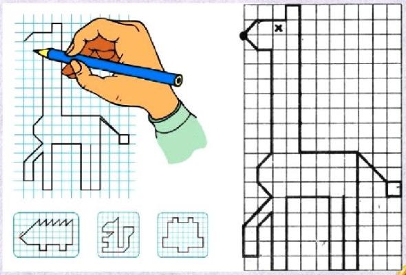 Геометрические рисунки по клеточкам. Легкие и сложные узоры