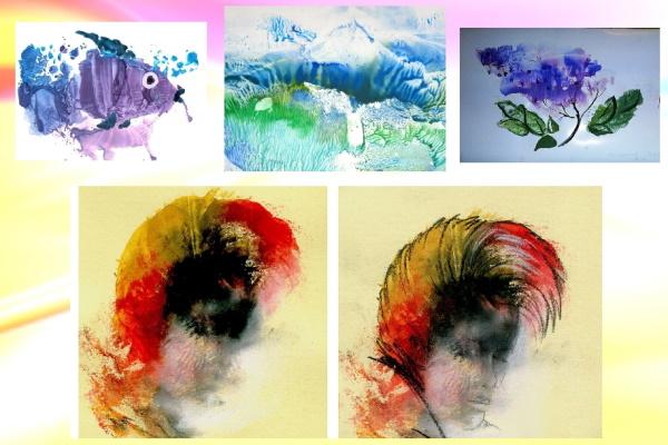 Монотипия техника рисования для детей. Рисунки