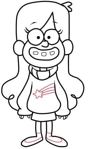 Рисунки Мейбл из Гравити Фолз карандашом