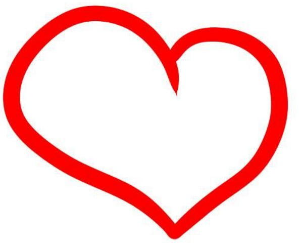 Рисунок Сердце с крыльями карандашом по клеточкам поэтапно