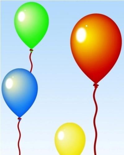 Рисунок Воздушный шар для детей карандашом, гуашью