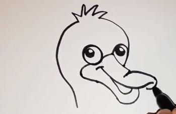 Утка рисунок для детей поэтапно карандашом