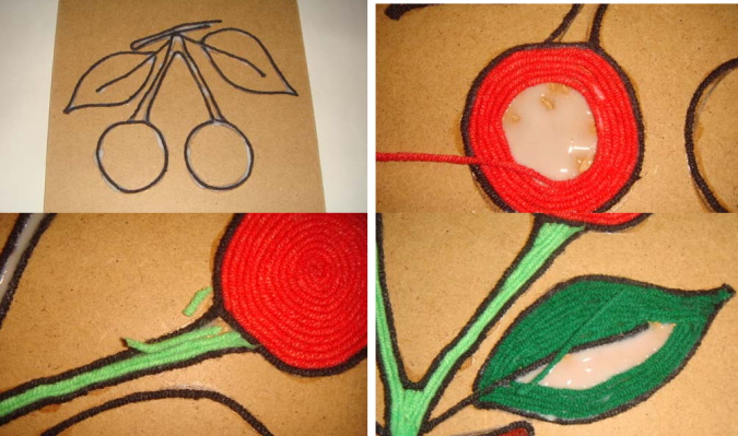 Рисование нитью и красками. Как называется, мастер-класс для детей