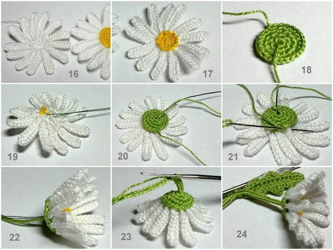 Цветочки крючком. Схемы и описание для начинающих