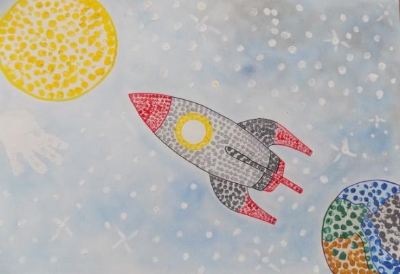 Рисунки про космос для детей дошкольного возраста